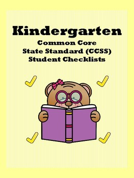 Kindergarten CCSS Student Checklists (Correlated to Americ