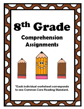 8th Grade CCSS Comprehension Assignments (Correlated to Am