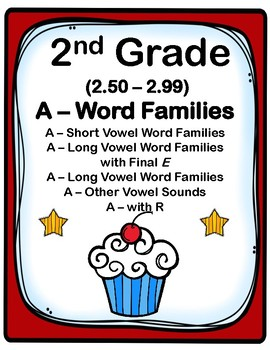 2nd Grade 2.50-2.99 A-Word Families Cards (Aligned to Amer