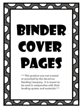 IRLA Binder Cover Pages