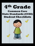4th Grade CCSS Student Checklists (Correlated to American
