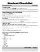 IRLA: Bk - Student Checklists
