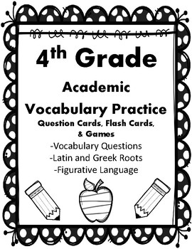 IRLA: Black - Academic Vocabulary Practice Question Cards,