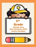 5th Grade CCSS Student Checklists (Correlated to American