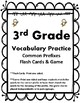 3rd Grade Vocab Practice Qs, Cards, & Games Aligned to Ame