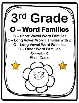 IRLA: Wt - O-Word Families Flashcards