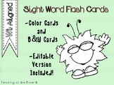 IRLA WT Tricky word Flash Cards w/ Editable File