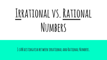 IRrational vs. RATIOnal Numbers