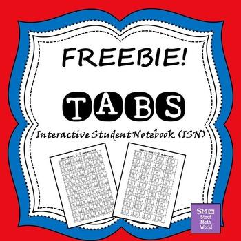 ISN Tabs - editable FREEBIE!