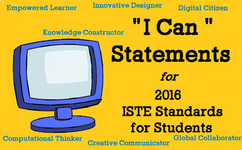 """ISTE 2016 """"I Can"""" Statements w/suggested Activities (Grade"""