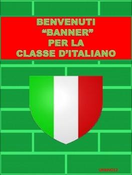 ITALIAN CLASSROOM DISPLAY:  BENVENUTI BANNER