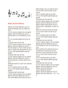 ITALIAN SONG LYRICS: Nella Vecchia Fattoria