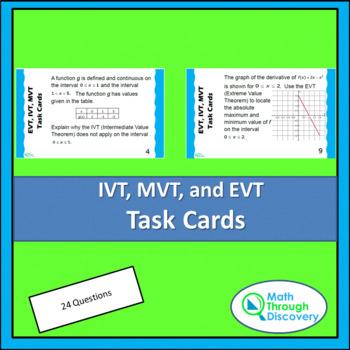 IVT, EVT, and MVT Task Cards