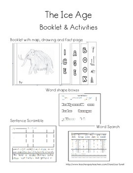 Ice Age Booklet and Activities