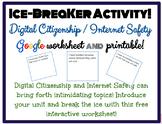 Ice Breaker Activity: Digital Citizenship, Internet Safety