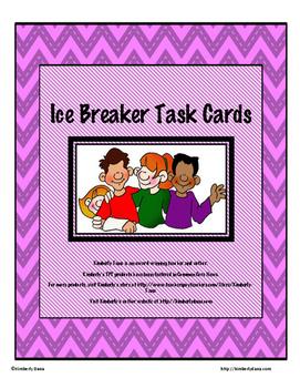Ice Breaker Task Card Bundle