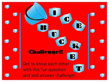 Ice Bucket Challenge - Ice Breaker Activity