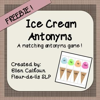 Ice Cream Antonyms-Matching Game