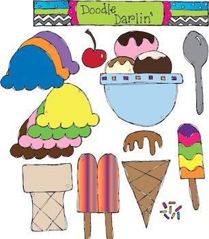 Ice Cream COLOR Clipart Set