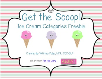 Ice Cream Categories: Freebie