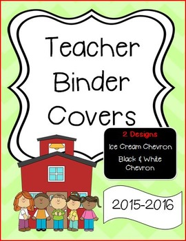 Ice Cream Chevron Binder Covers or Dividers - School Theme