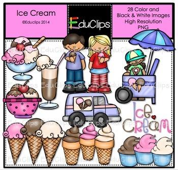 Ice Cream Clip Art Bundle {Educlips Clipart}