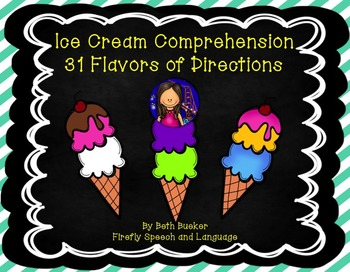 Ice Cream Comprehension - 31 Flavors of Directions