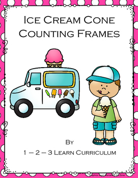 Ice Cream Cone Counting Frames