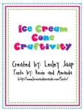 Ice Cream Cone Money Craftivity