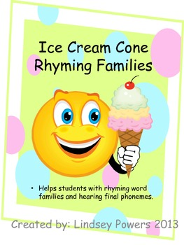 Ice Cream Cone Rhyming Families