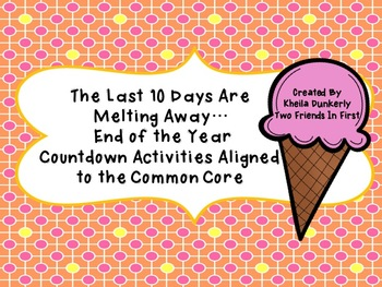 Ice Cream Countdown and Activities