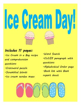 Ice Cream Day Ideas and Worksheets
