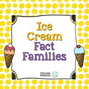 Ice Cream Fact Family Puzzles