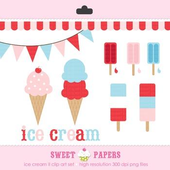 Ice Cream II Digital Clip Art Set - by Sweet Papers