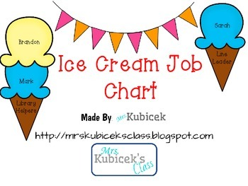 Ice Cream Job Chart