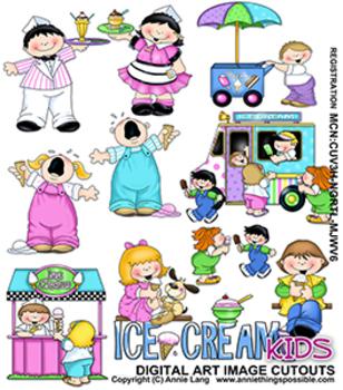 Ice Cream Kids Clipart