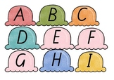 Ice Cream Lower and Upper case Alphabet match