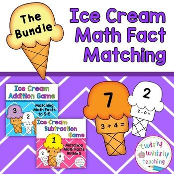 Math Fact Matching Game Bundle