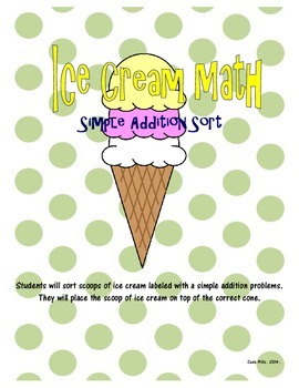 Ice Cream Math Sort - Simple Addition