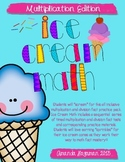 Ice Cream Math Timed Multiplication Drills