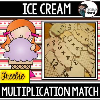 Ice Cream Multiplication Match Preview (Freebie!)