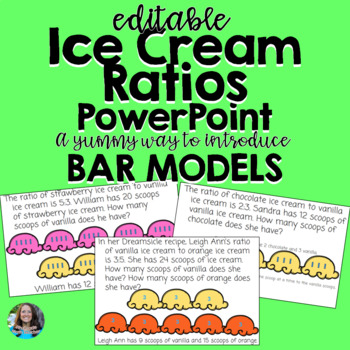 Ice Cream Ratios- Modeling Ratios using Tape Diagrams and