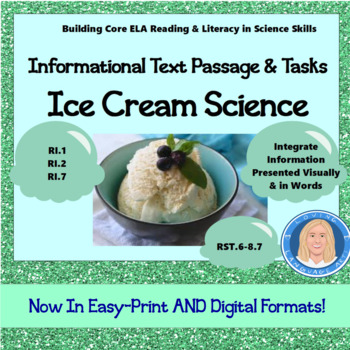 Informational Text, The Science Behind Ice Cream, Vocab, W