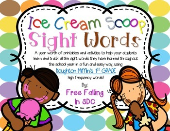 Ice Cream Scoop Sight Words (1st grade edition)