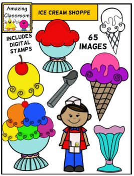 Ice Cream Shoppe Clipart Set - 65 Images!