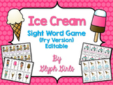 Ice Cream Sight Word Game (Fry Version)