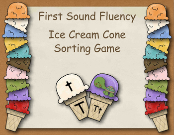 Ice Cream Sort - First Sound Fluency, Letter Name Fluency, etc.