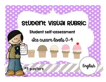 Ice Cream Student Visual Rubric Assessment Achievement