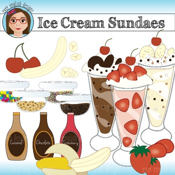 Ice Cream Sundae Clip Art