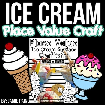 Ice Cream Sundae Math Craft Activity
